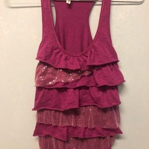Aeropostale Bling Pink Tank Top - Size Medium